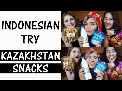 Indonesian Try Kazakhstan Snacks