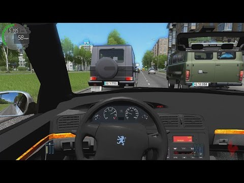 City Car Driving - Peugeot 406 Taxi Marseille   Street Racing