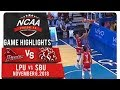 NCAA 94 MB Finals: LPU vs. SBU | Game Highlights | November 6, 2018
