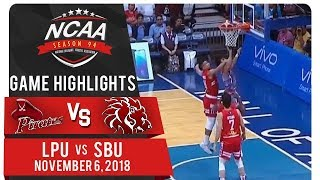 NCAA 94 MB Finals: LPU vs. SBU | Game Highlights | November 6, 2018