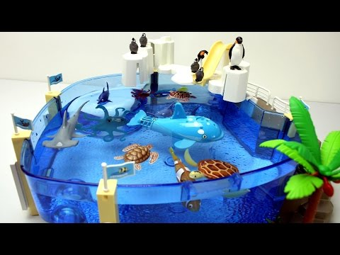 Thumbnail: Playmobil Penguins Pool Playset with Sea Animals Toys For Kids