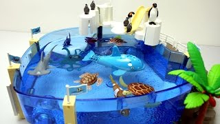 Playmobil Penguins Pool Playset with Sea Animals Toys For Kids