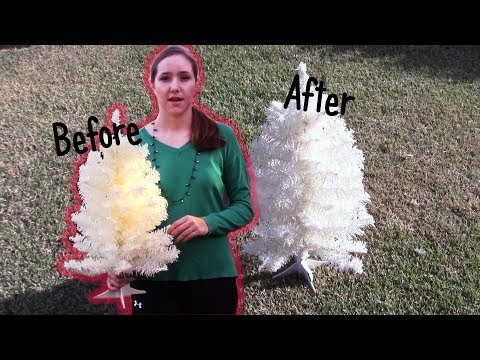 HOW TO CLEAN A WHITE CHRISTMAS TREE
