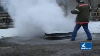 Порошковый огнетушитель ОП 4з МИГ очаг 55В(Тушение порошковым огнетушителем ОП-4(з) МИГ производства ЗАО
