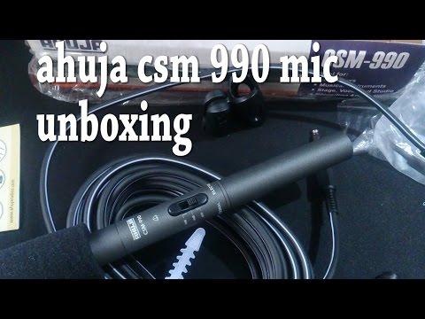 Ahuja Csm 990 Microphone Unboxing