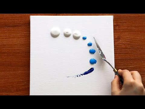 Easy & Simple Acrylic Painting Techniques 46|Satisfying Comfortable Video|Abstract Painting Demo