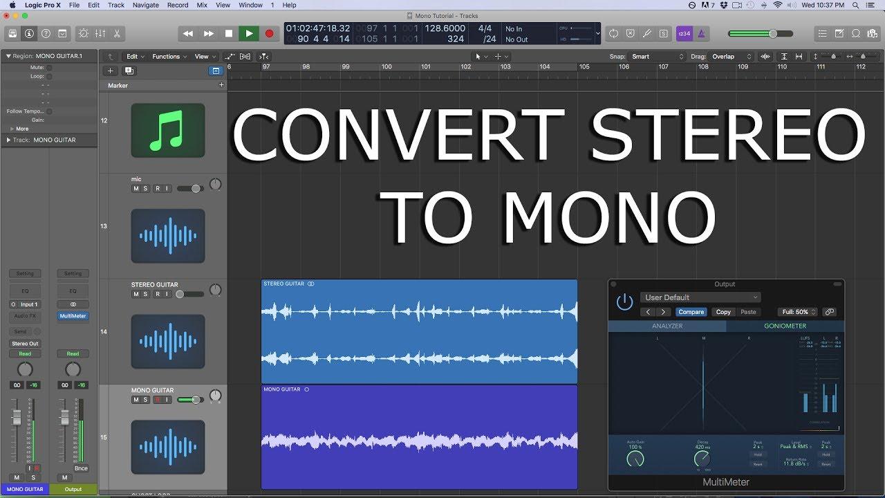 Logic Pro X Tutorial - Convert Stereo to Mono