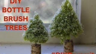 HOW TO MAKE A BOTTLE BRUSH TREE WITH HAPPY ADORNING -- DIY, DAMMIT!