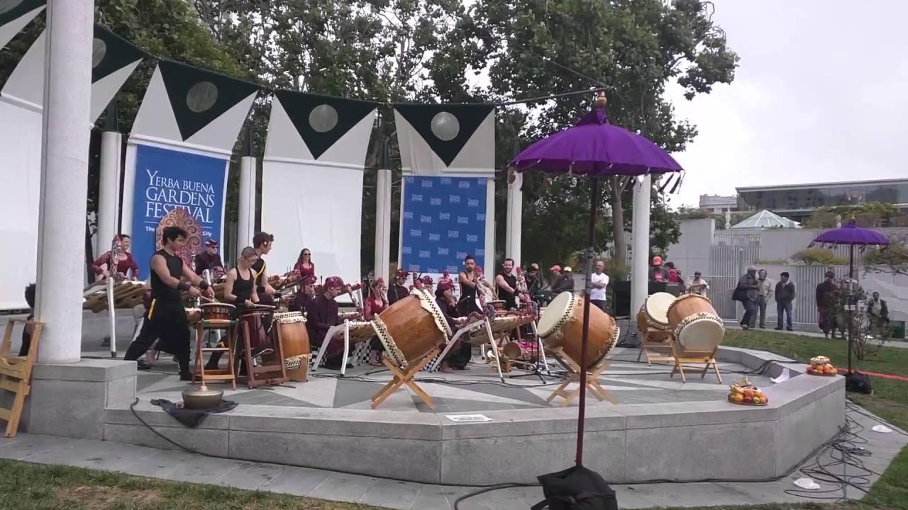 Kolaborasi Yerba Buena Gardens Festival Jiten Daiko