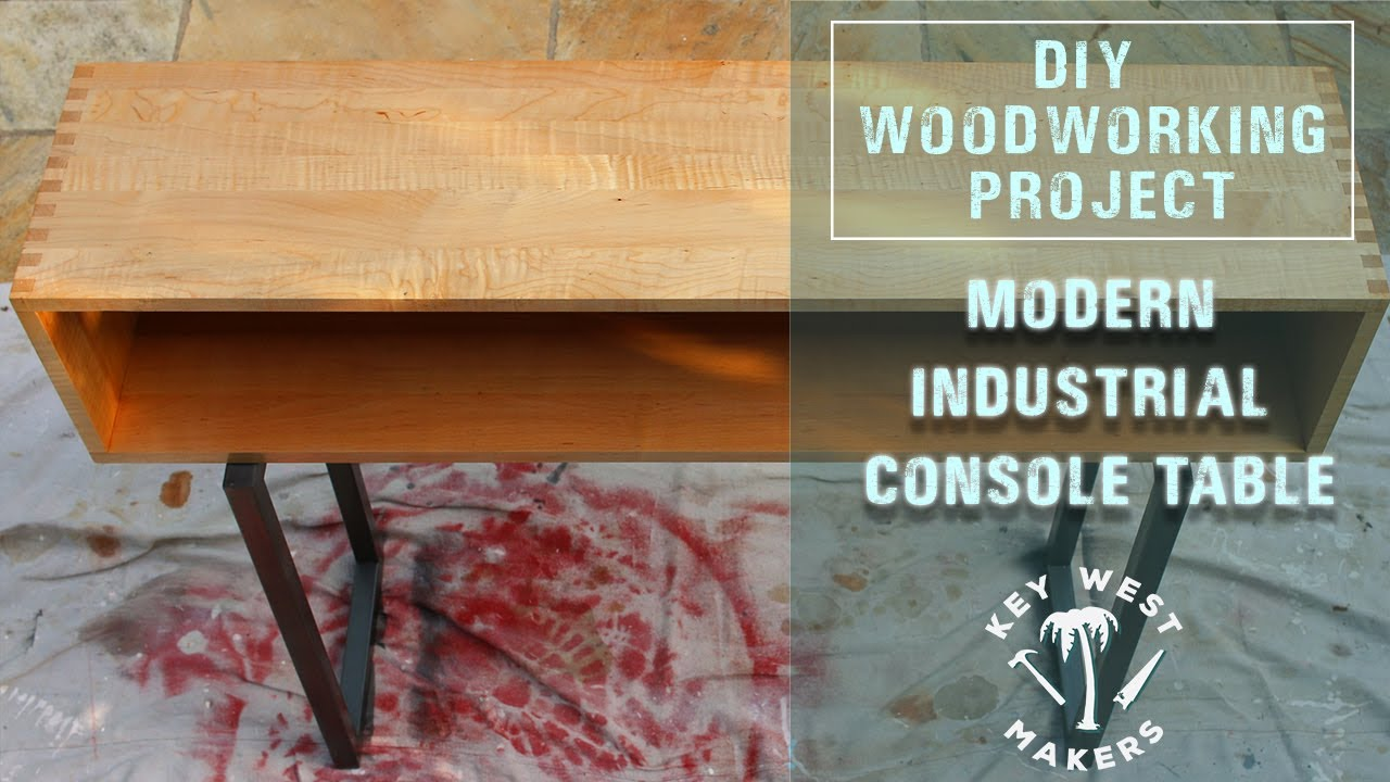 Project metal and maple console table youtube project metal and maple console table geotapseo Image collections