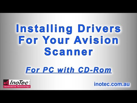 Installing Drivers & Connecting Your Avision Scanner - PC With CD-Rom