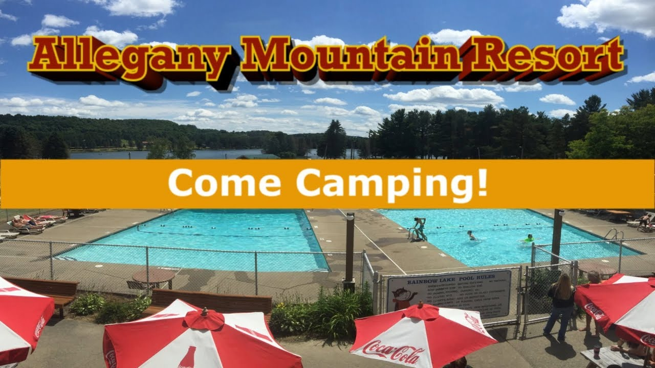 western new york camping allegany mountain resort - youtube