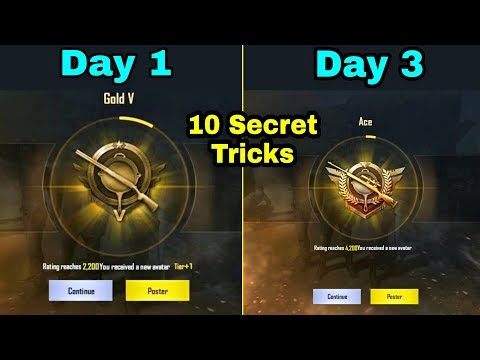 Top 10 New Tips & Tricks To Push Rank Ace In Just 3 Day PUBG Mobile | 10 Secret Tricks