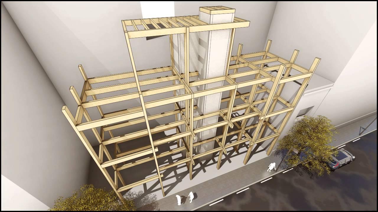 Edificio Plurifamiliar con estructura de madera y consumo casi nulo ...