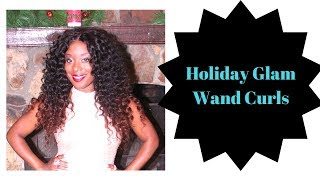 Styling a wig: Holiday  Wand curls