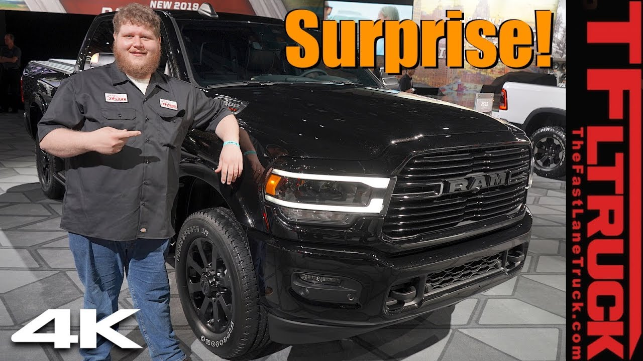2019 Ram Hd Laramie Black Edition Ram Surprises With New
