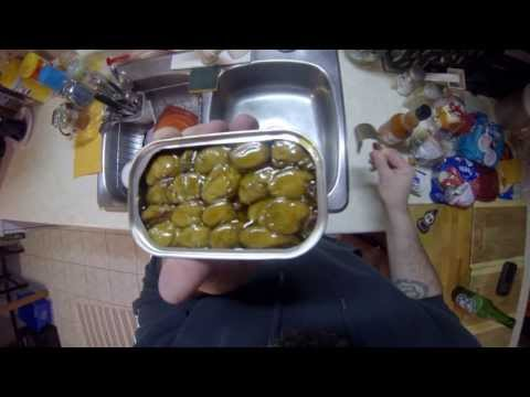 EATING CANNED OYSTERS