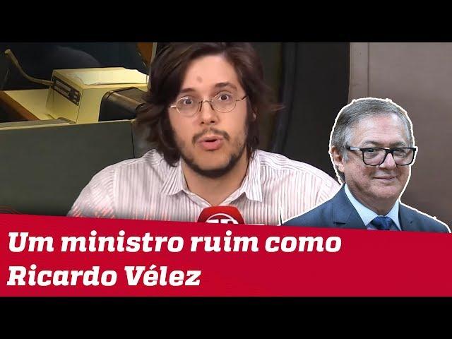 #JoelPinheiro: Difícil pensar em um ministro tão ruim quanto Ricardo Vélez Rodríguez