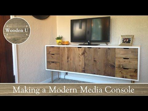 Making A Modern Media Console   Wooden U
