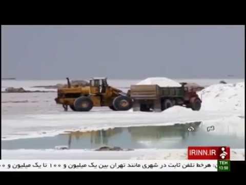 Iran Qom province, Salt lake درياچه نمك استان قم ايران