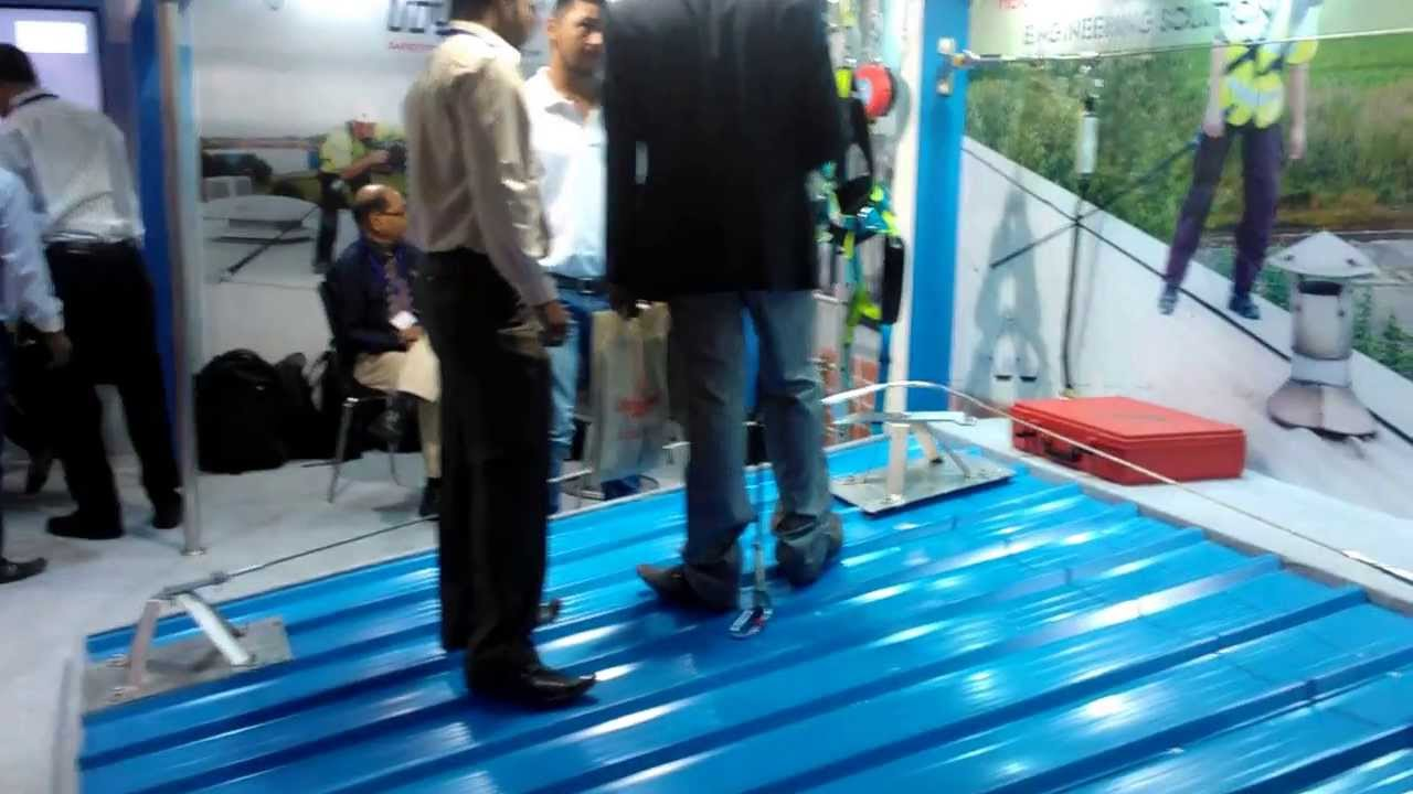 Fall Protection Systems At Roof India 2013 Youtube