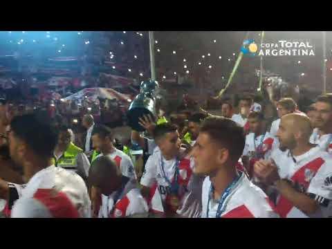 Los festejos de River bicampeón de la Copa Argentina