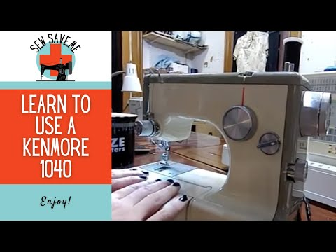 Kenmore 158.1040 Sewing Machine - Let's Play With A Mini Kenny 1040
