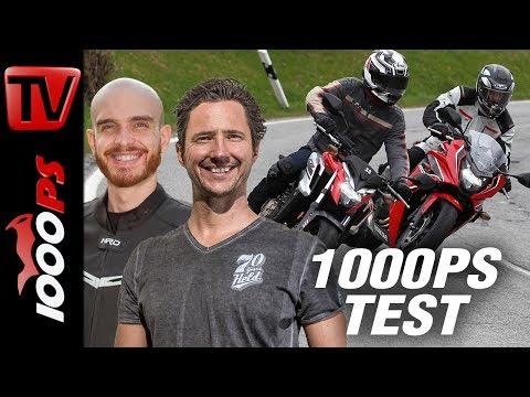 1000PS Test - Honda CB650F und CBR650F 2017 im Test - Schaaf und NastyNils drücken an!