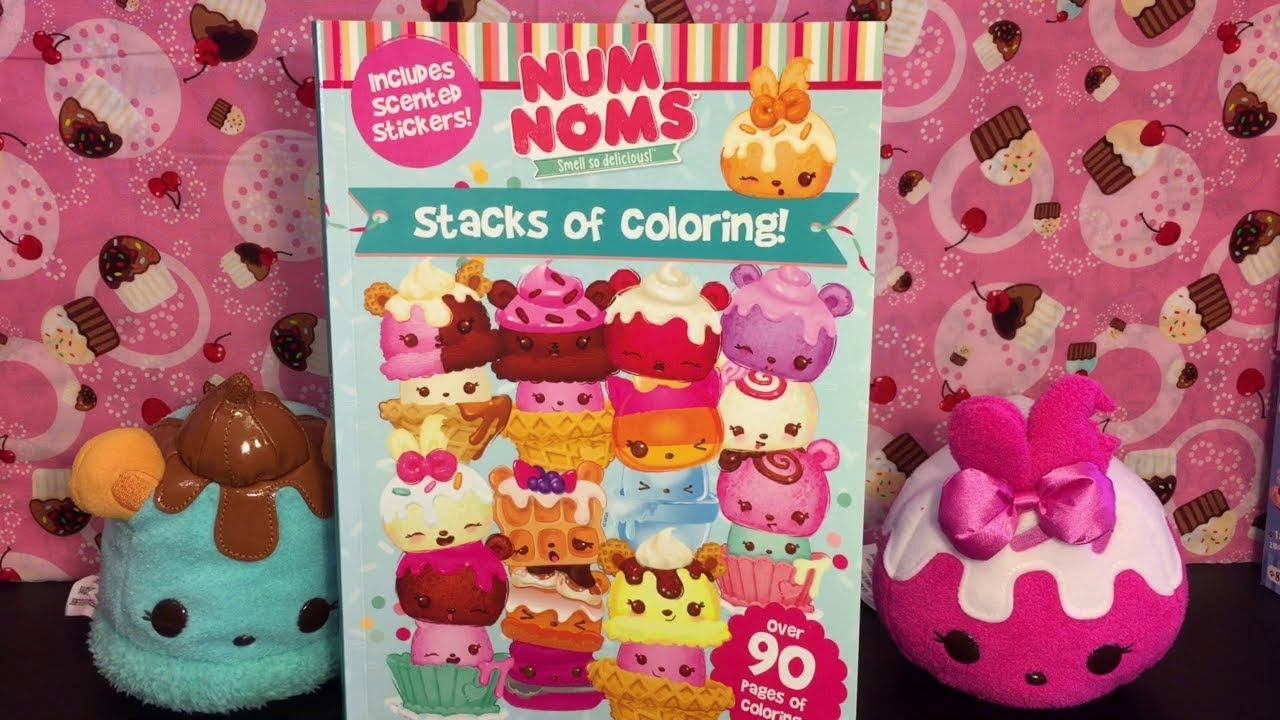 Coloring Time 61 Num Noms Coloring Book With Colored Pencils