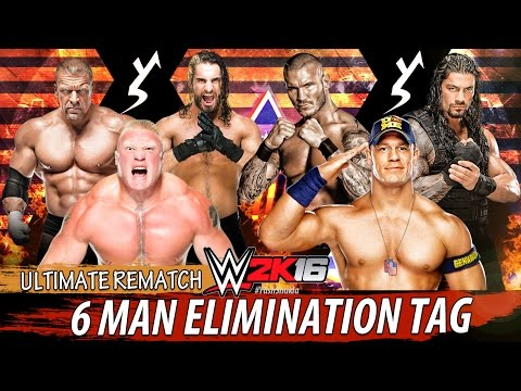 WWE 2K16 - ULTIMATE REMATCH | 6 MAN ELIMINATION TAG TEAM MATCH | PS4 Gameplay