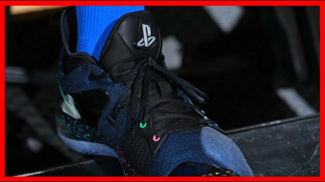 size 40 d1b5d d985a PlayStation Reveals New PS Shoes! New Nike PG-2 Kicks!