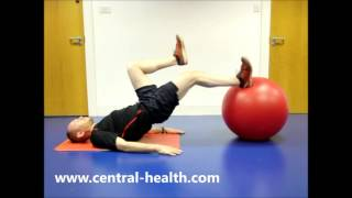 Single Leg Bridge Off Gym Ball