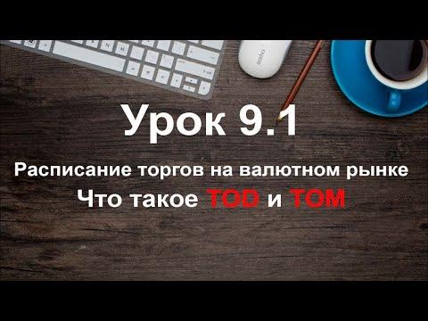 Урок 9.1 Расписание торгов на валютном рынке. Что такое TOD и TOM? Обучение трейдингу бесплатно