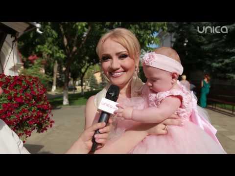 Video exclusiv de la botezul fiicei Adrianei Ochișanu