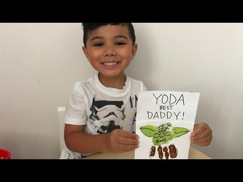 """DIY: STAR WARS Father's Day Card - """"Yoda Best Daddy"""""""