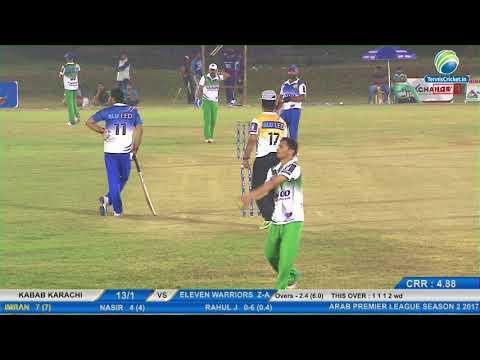 Kabab Karachi VS Eleven Warriors Z-Axis   Arab Premier League 2017, UAE