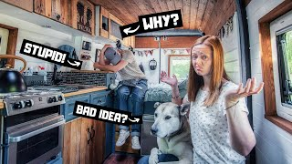 DIY VAN BUILD MISTAKES..  what we regret and what we would change in our self converted campervan.