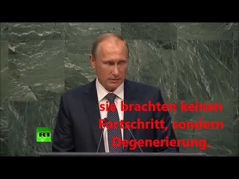 Putin 2015 vor der UNO-Vollversammlung