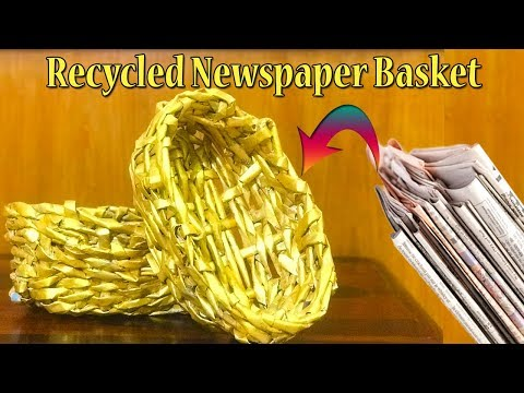 How to make newspaper basket at home | Recycle Newspaper | DIY Paper Crafts