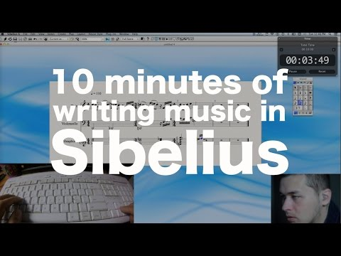 10 minutes of writing music in Sibelius 6 (...and that's basically it...)