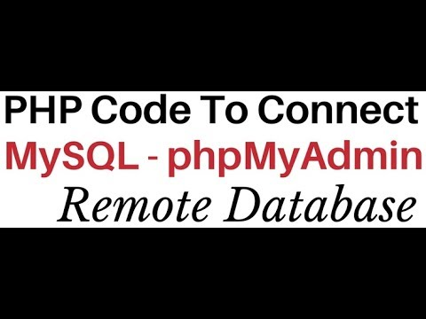 PHP | How To Config Mysql (phpMyAdmin 4.5.1) Database Connection