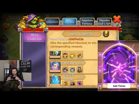 JT's Free 2 Play 10,000 Gems For Hero Collector ONETIME Castle Clash