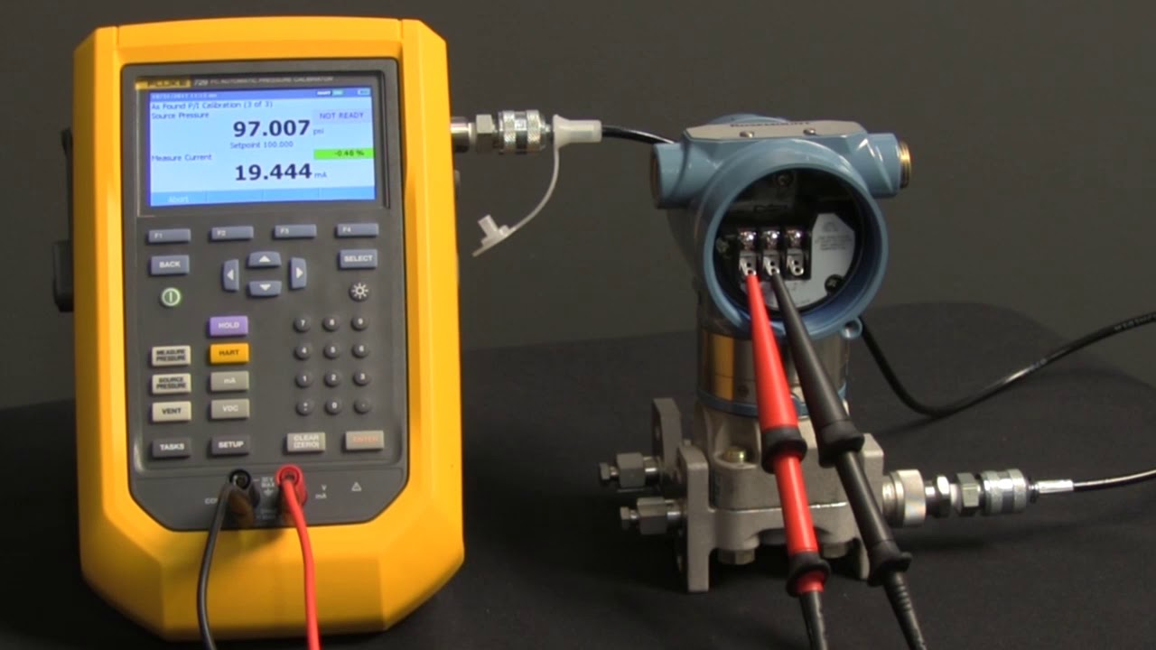 How To Calibrate A Hart Pressure Transmitter From A Downloaded Task With The Fluke 729