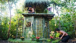 Build The Most Amazing Bamboo House By Ancient Skill 100%