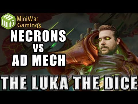 Necrons vs Adeptus Mechanicus Warhammer 40k Battle Report - Just the Luka the Dice Ep 25