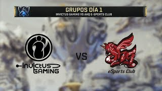 INVICTUS GAMING VS AHQ ESPORTS CLUB | WORLDS 2019 | GRUPOS DÍA 1 | League of Legends