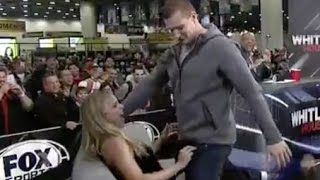 Rob Gronkowski Gives Fox Sports 1 Reporter Lap Dance on Live TV