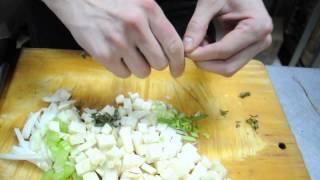 Постное блюдо Вегетарианский суп из корня сельдерея с томатами черри (видео-рецепт)