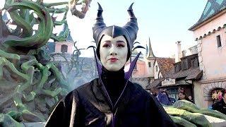 Maleficent Halloween Meet and Greet 2018 at Disneyland Paris Behind Castle at Brambles - Maléfique