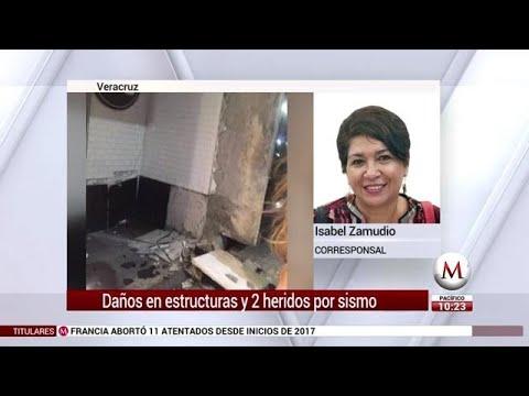 Daños en estructuras y 2 heridos por sismo en Veracruz